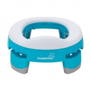 Naktipuodis Roxy Kids HandyPotty 2in1 sulankstomas kelioninis blue