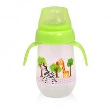 Neišsiliejantis puodelis minkštu silikoniniu snapeliu Green