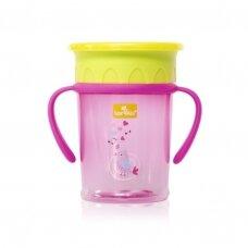 Neišsiliejantis puodelis su 360 laipsnių kraštelių sistema,Pink