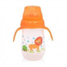 Neišsiliejantis puodelis minkštu silikoniniu snapeliu Orange