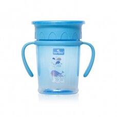 Neišsiliejantis puodelis su 360 laipsnių kraštelių sistema, Blue