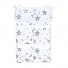 Pakabinamos kišenės vertikalios Mamotato Žvaigždutės rožinės