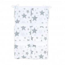 Pakabinamos kišenės vertikalios Mamotato Žvaigždutės pilkos