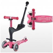 Paspirtukas Mini Micro 3in1 Deluxe Plus rožinis