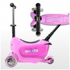 Paspirtukas Mini2go Deluxe Plus rožinis