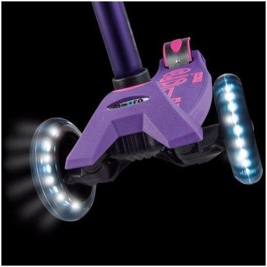 Paspirtukas Maxi Micro Deluxe LED violetinis 2