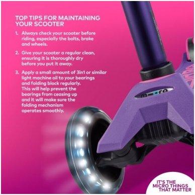 Paspirtukas Maxi Micro Deluxe LED violetinis 7