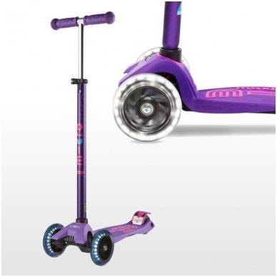 Paspirtukas Maxi Micro Deluxe LED violetinis
