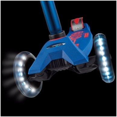 Paspirtukas Maxi Micro Deluxe LED mėlynas 2
