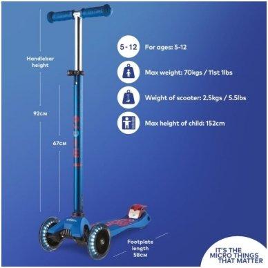Paspirtukas Maxi Micro Deluxe LED mėlynas 5