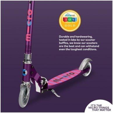 Paspirtukas Micro Sprite Special Edition Purple Stripe 12