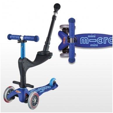 Paspirtukas Mini Micro 3in1 Deluxe Plus Mėlynas 3