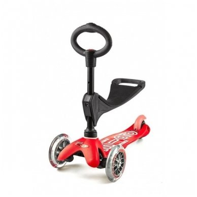 Paspirtukas Mini Micro 3in1 Deluxe raudonas 2