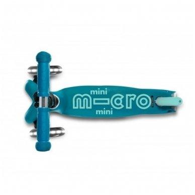 Paspirtukas Mini Micro Deluxe LED Žydras 2