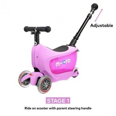 Paspirtukas Mini2go Deluxe Plus rožinis 3