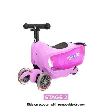 Paspirtukas Mini2go Deluxe Plus rožinis 4