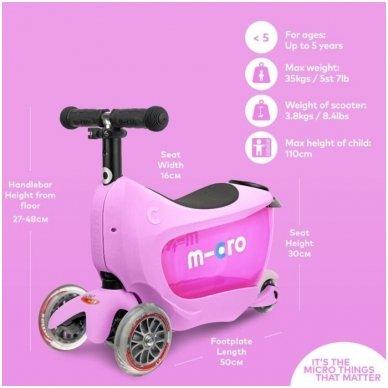 Paspirtukas Mini2go Deluxe Plus rožinis 9