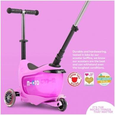 Paspirtukas Mini2go Deluxe Plus rožinis 11