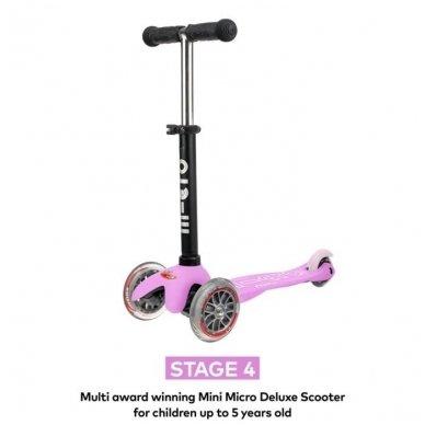 Paspirtukas Mini2go Deluxe Plus rožinis 7