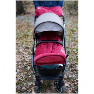 Pirštinės rankoms, tvirtinamos ant vežimėlio rankenos X-Lander X-Muff Velvet Ruby 3