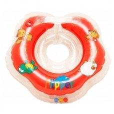 Plaukimo ratas kūdikiams ant kaklo Flipper red, Roxy Kids