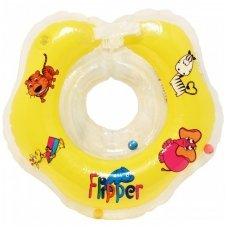 Plaukimo ratas kūdikiams ant kaklo Flipper yellow Roxy Kids