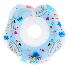 Plaukimo ratas kūdikiams ant kaklo Muzikinis, Gulbių Ežeras Blue, Roxy Kids
