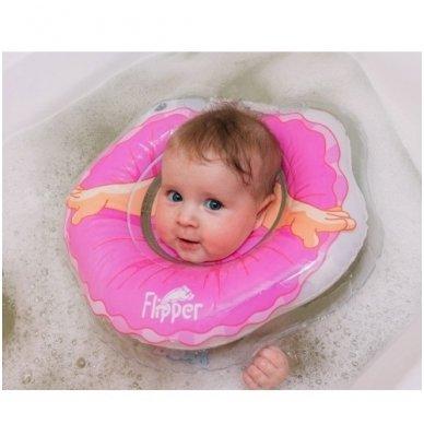 Plaukimo ratas kūdikiams ant kaklo 3D Balerina, Roxy Kids 4
