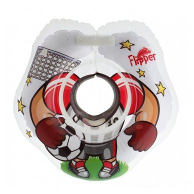Plaukimo ratas kūdikiams ant kaklo 3D Futbolistas, Roxy Kids