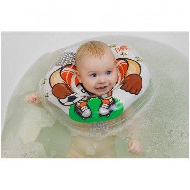 Plaukimo ratas kūdikiams ant kaklo 3D Futbolistas, Roxy Kids 6
