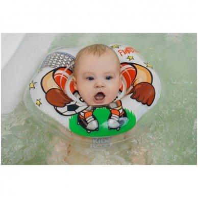Plaukimo ratas kūdikiams ant kaklo 3D Futbolistas, Roxy Kids 7