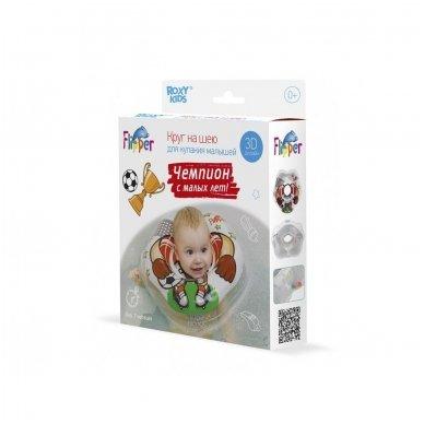 Plaukimo ratas kūdikiams ant kaklo 3D Futbolistas, Roxy Kids 8
