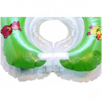 Plaukimo ratas kūdikiams ant kaklo Flipper green, Roxy Kids 3