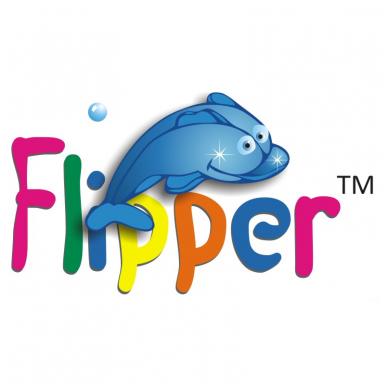 Plaukimo ratas kūdikiams ant kaklo Flipper red, Roxy Kids 5
