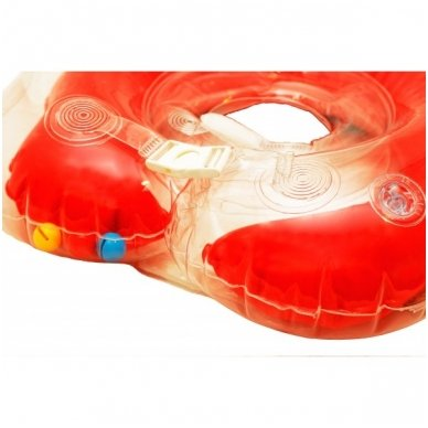 Plaukimo ratas kūdikiams ant kaklo Flipper red, Roxy Kids 2