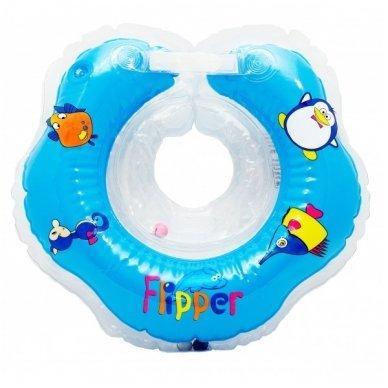 Plaukimo ratas kūdikiams ant kaklo Flipper blue, Roxy Kids