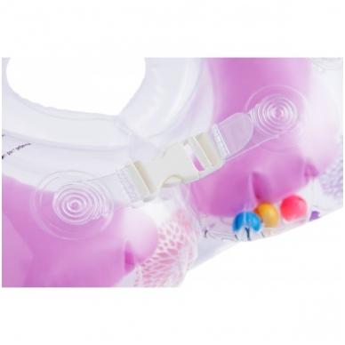 Plaukimo ratas kūdikiams ant kaklo Muzikinis, Gulbių Ežeras Pink, Roxy Kids 4