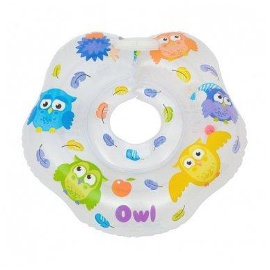Plaukimo ratas kūdikiams ant kaklo Owl