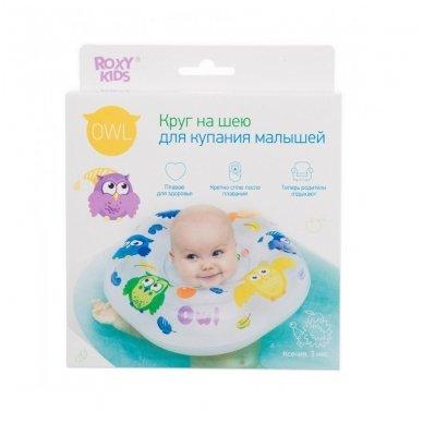 Plaukimo ratas kūdikiams ant kaklo Flipper Owl, Roxy Kids 2