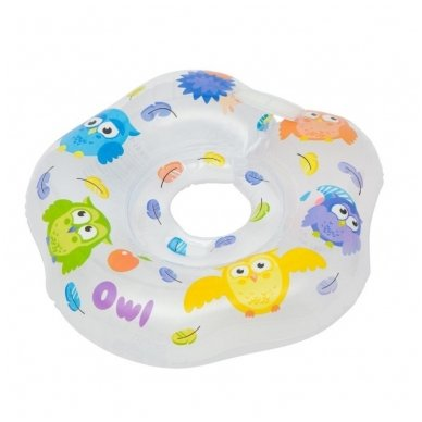 Plaukimo ratas kūdikiams ant kaklo Owl 3