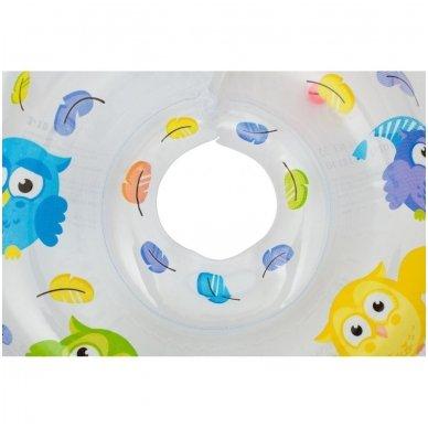 Plaukimo ratas kūdikiams ant kaklo Owl 5
