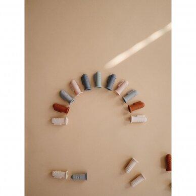 Dantukų masažuoklis-šepetukas Mushie, Tradewinds/Stone 2 vnt. 4