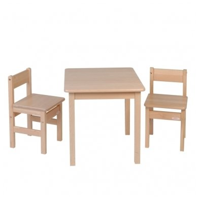 Staliukas ir 2 kėdutės iš beržo