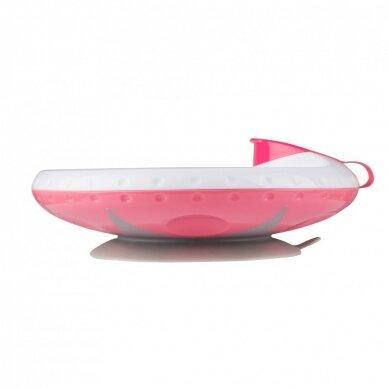Termo lekštė su prie stalo limpančiu dugnu Pink 2