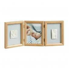 My Baby Touch Wooden Double Frame honey