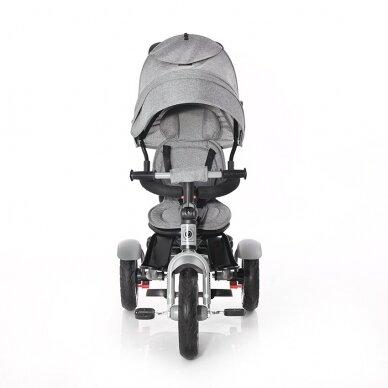 Triratukas Neo Grey Luxe sėdima dalis apsisuka į abi puses su pripučiamais ratais 3
