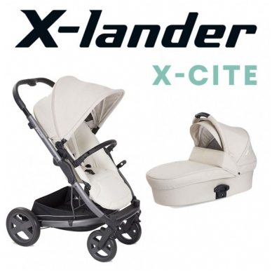 X-Lander X-Cite vežimėlis 3in1 su autokėdute X-Lander X-Car i-Size 29