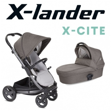 X-Lander X-Cite vežimėlis 3in1 su autokėdute X-Lander X-Car i-Size 32