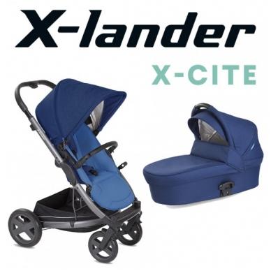 X-Lander X-Cite vežimėlis 3in1 su autokėdute X-Lander X-Car i-Size
