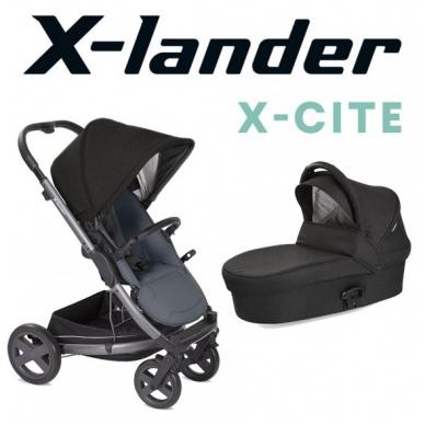X-Lander X-Cite vežimėlis 3in1 su autokėdute X-Lander X-Car i-Size 30